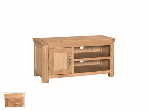 Curved Oak Standard TV Unit