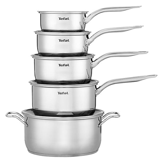 Tefal Intuition Stainless Steel 5 Piece Set, Induction Ready