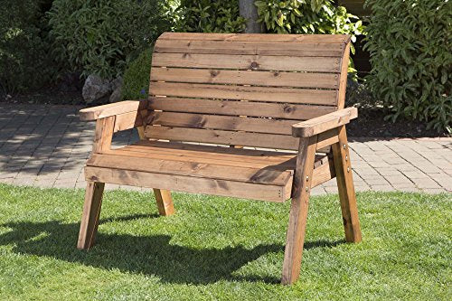 2 Seater Wooden Garden Bench Charles Taylor Hand Made Traditional