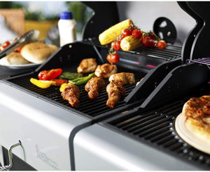 Outback 2020 Jupiter 6 Burner Hybrid - Stainless Steel with Chopping Board