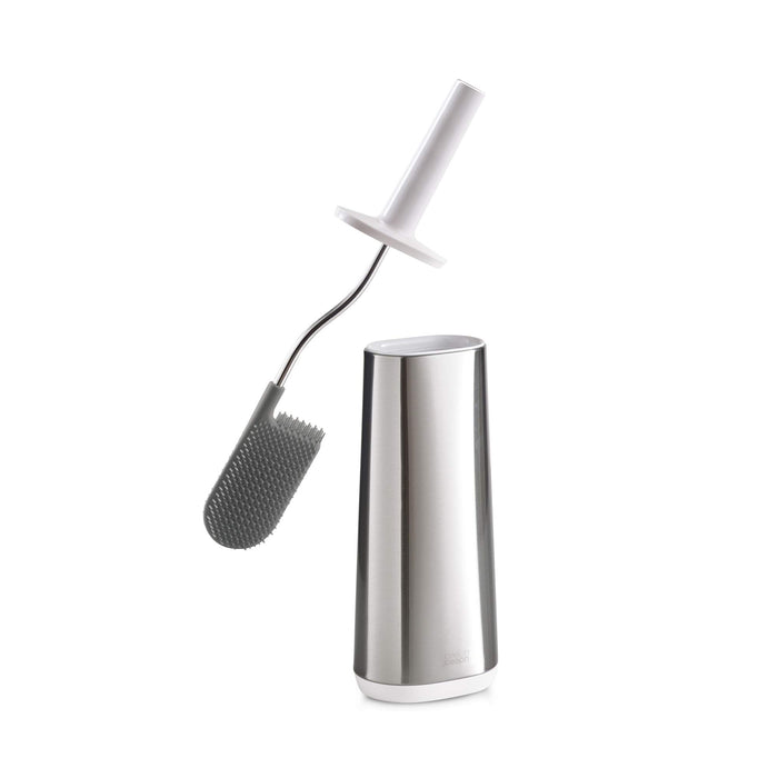 Joseph Joseph 70517 Bathroom Flex Smart Toilet Brush with Holder, Stainless Steel