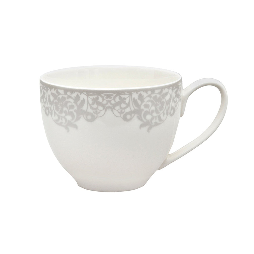 Denby Monsoon Filigree Silver Teacup