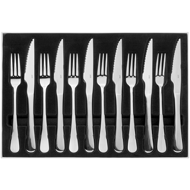 Judge Windsor Set Of Six Stainless Steel Steak Knives & Forks, BF36