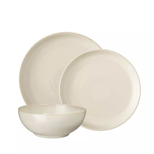 Denby Linen Coupe 12 Piece Dinner Set