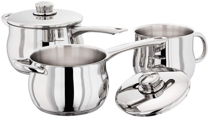 Stellar 1000 3 Piece Deep Saucepan Set Stainless Steel S1A2