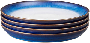 Denby Blue Haze 4 Piece Coupe Dinner Plate Set