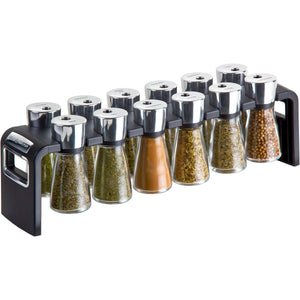 Cole & Mason 12 Jar Shaw Filled Herb and Spice Rack