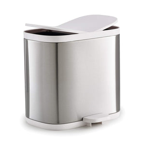 Joseph Joseph 70520 Split Steel Waste & Recycling Bin, Stainless