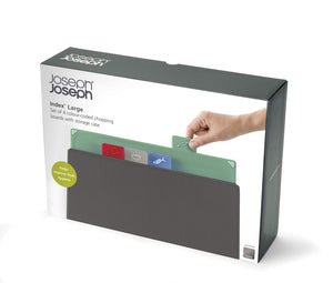 Joseph Joseph Index Chopping Board Set, Large, Coast/Graphite