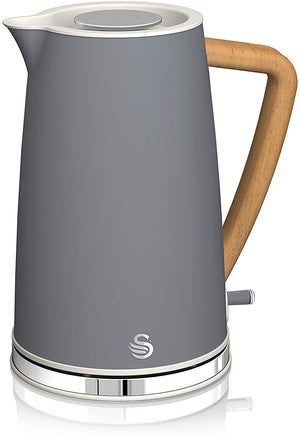 Swan 1.7L Nordic Style Cordless Kettle Grey