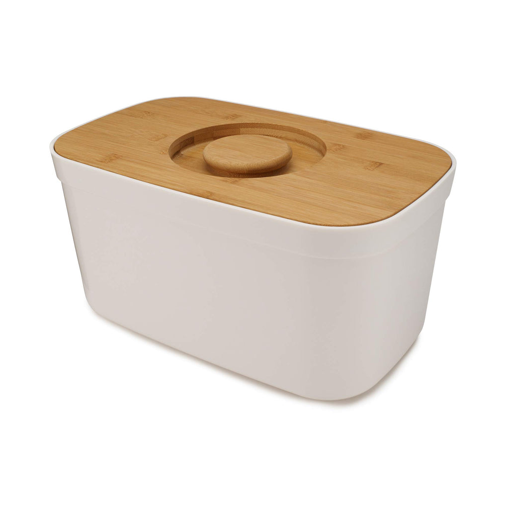 Joseph Joseph Bread Bin with Cutting Board Lid White