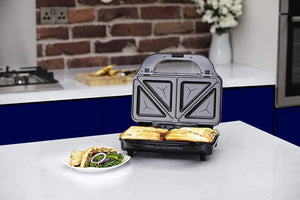 Tower T27020 3-in-1 Grill Sandwich and Waffle Maker with Non-Stick Easy Clean Removable Plates