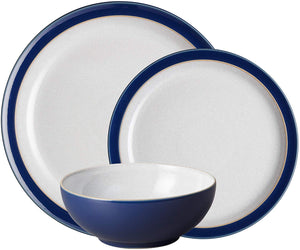 Denby Elements 12 Piece Dinner Set Dark Blue