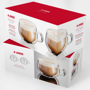 Judge JDG30 Set of 2 Double Walled Cappuccino Glasses 225 ml