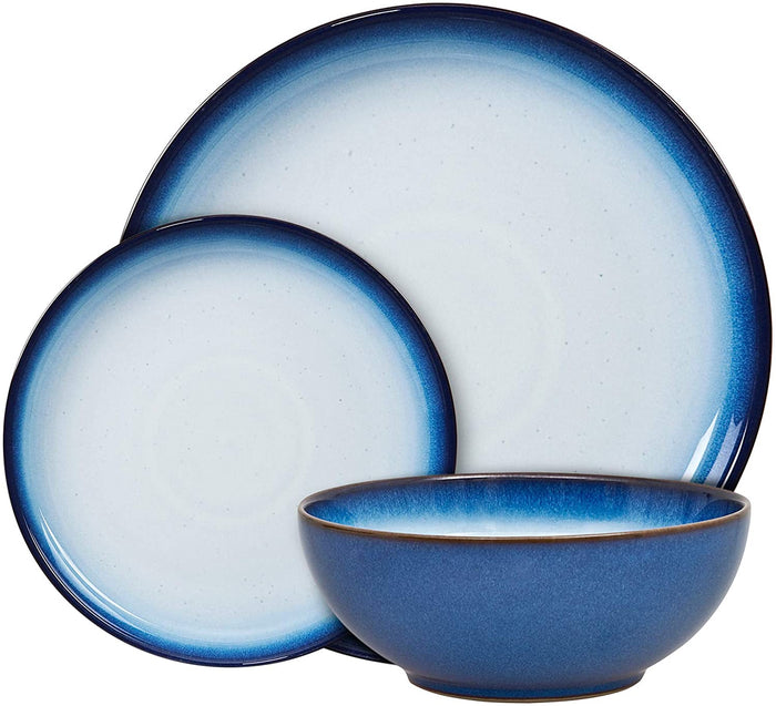 Denby Blue Haze 12 Piece Coupe Tableware Set