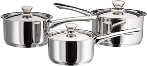 Judge Platina 3 Piece Saucepan Set JLA1 Suitable for All Hobs