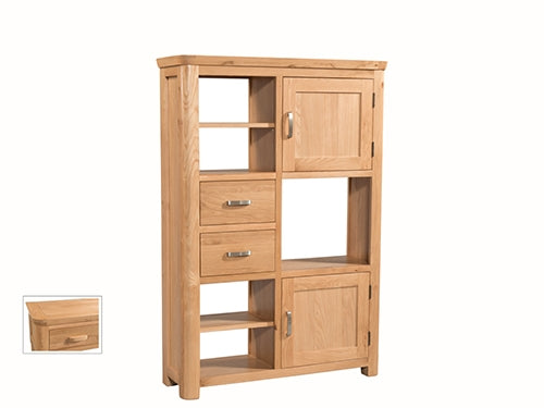Curved Oak High Display Unit