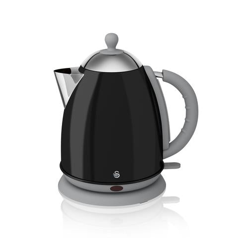 Swan Kettle Black - Retro