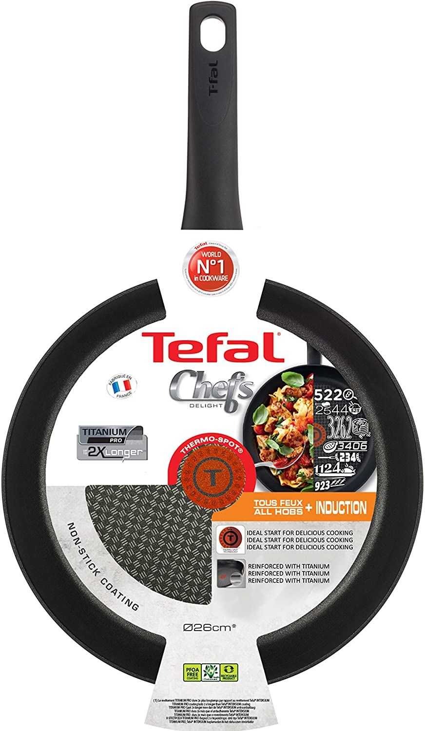 TEFAL CHEF DELIGHT 26CM FRYPAN WITH THERMOSPOT