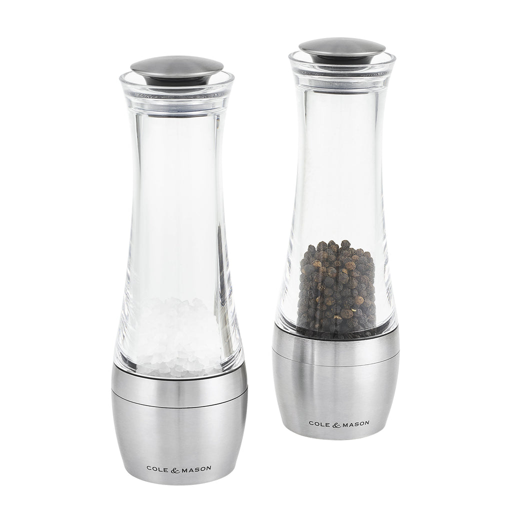 Cole & Mason 190 mm Amesbury Stemless Salt and Pepper Mill Gift Set