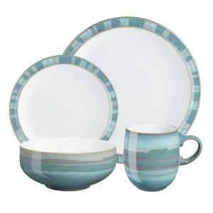 Denby Azure Coast Dinner Set 16 Piece