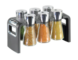 Cole & Mason Shaw 6 Jar Filled Herb and Spice Rack