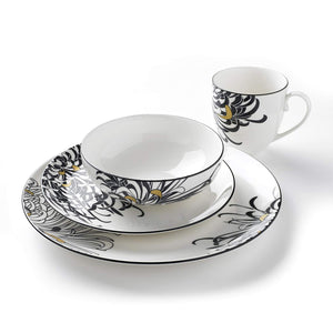 Denby Monsoon Chrysanthemum 16 Piece Boxed Dinner Set
