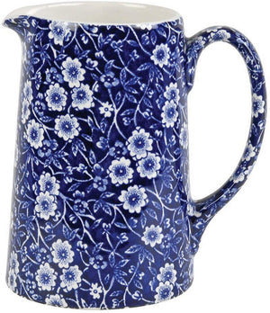 Burleigh Dark Blue Calico Large Tankard Jug