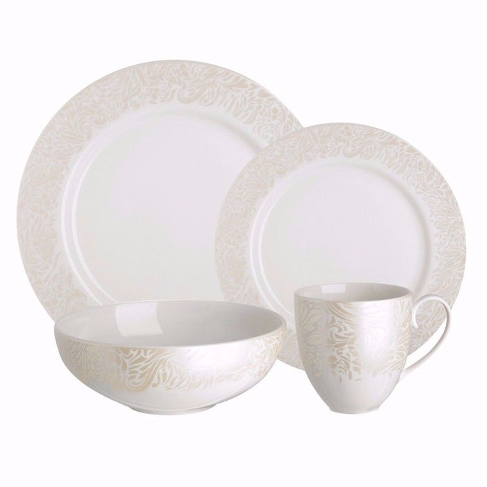 Denby Lucille Gold 16 Piece Dinner Set