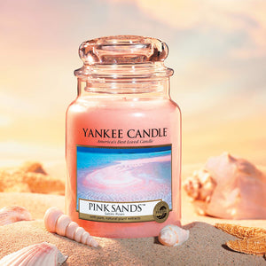 Yankee Candle Scented Candle Pink Sands Large Jar Candle Burn Time: Up to 150 Hours