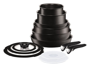 Tefal Ingenio Expertise Non-stick Induction Cookware Set, 13 Pieces, Black