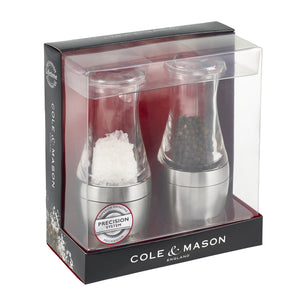 Cole & Mason Wishford Stemless Salt and Pepper Mill Gift Set 140mm