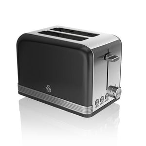 Swan 2 Slice Toaster Retro Black