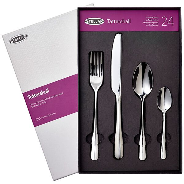 Stellar Tattershall Stainless Steel 24 Piece Cutlery Gift Box Set BC50