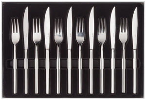 Stellar Rochester 12 Piece Steak Knife & Fork Set BL36