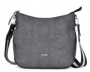 JOCEE&GEE LADIES MARA SHOULDER/CROSSBODY BAG - BLACK