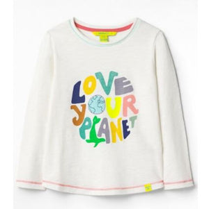 WHITE STUFF BOYS LOVE YOUR PLANET JERSEY TEE- OFF WHITE