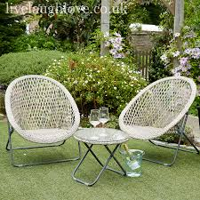 Garden Bistro Set Cream3 Piece