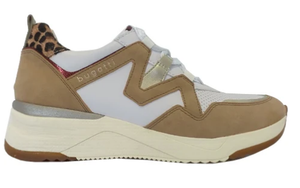 Bugatti Wedge Trainers - 431-A2L01 - Beige