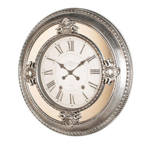 Antique silver clock 66cm