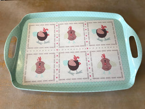 Chicken Tray Set of 4