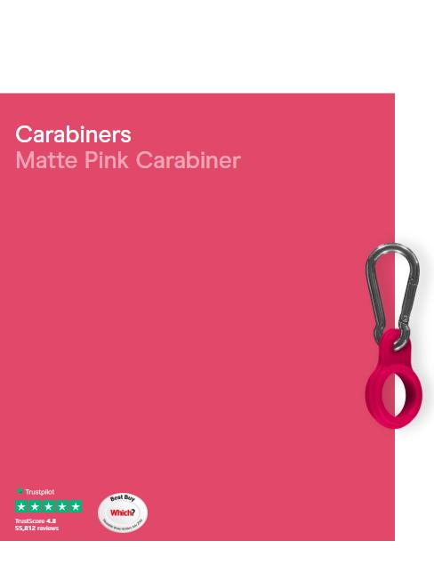 CHILLY'S Carabiner Matte Pink 260 Ml 500 Ml