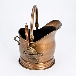 Coal Bucket & Shovel Brass