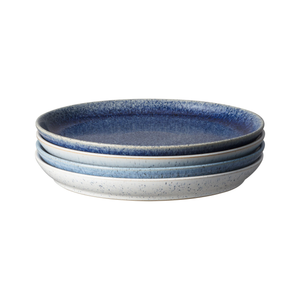 Denby Studio Blue Coupe Dinner Plates Set of 4