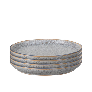Denby Studio Grey Coupe Dinner Plates Set of 4