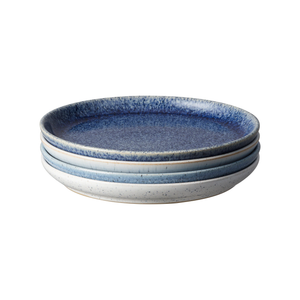 Denby Studio Blue Medium Coupe Plates Set of 4