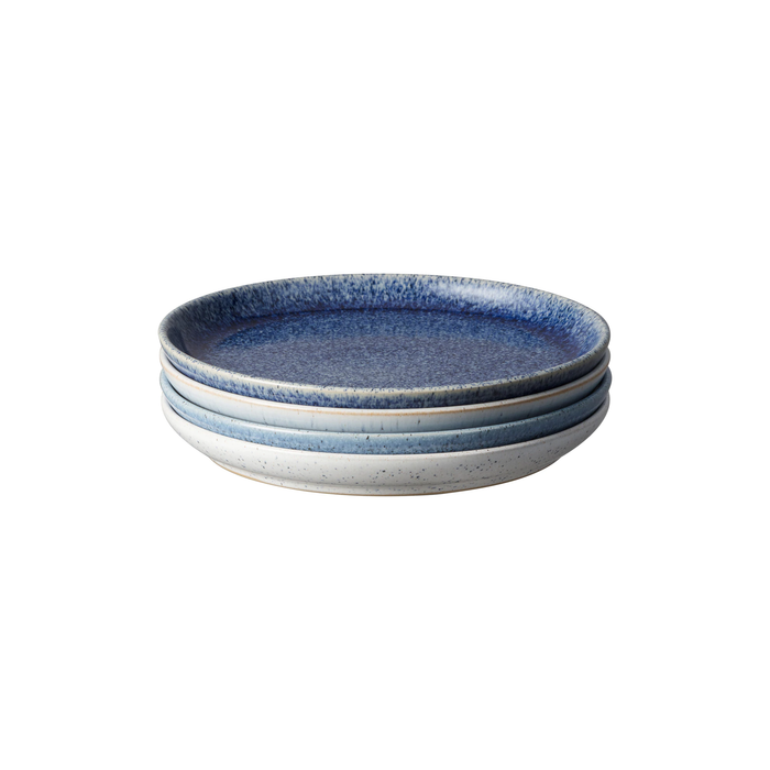 Denby Studio Blue Small Coupe Plates Set of 4