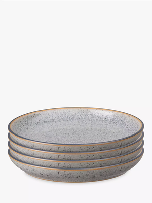 Denby Studio Grey Small Coupe Plates Set of 4