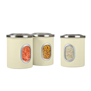 Denby Cream Cannisters Set of 3