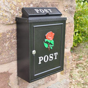 Wall Mounted Postbox (Red Rose)